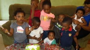 L-R :  Kayla, Manny, Otokini, Cara,  Jeremy,  Sopriye, Nathan, Soseleye and Boma